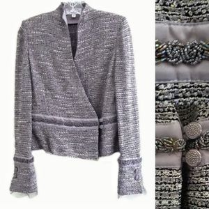 St. John Evening Beaded Tweed Jacket Size 6